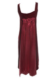 1960's Red Velvet Vintage Evening Gown
