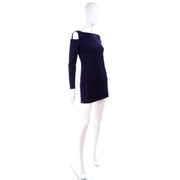 Blue Rudi Gernreich 1960s Vintage Dress W/ cutout Shoulders