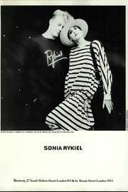 Sonia Rykiel April 1984 Vogue Ad - Rykiel Sweatshirt