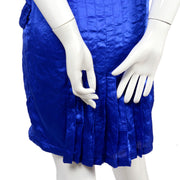 Vintage pleated Versace blue dress