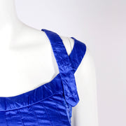 Versace sleeveless dress with topstitching
