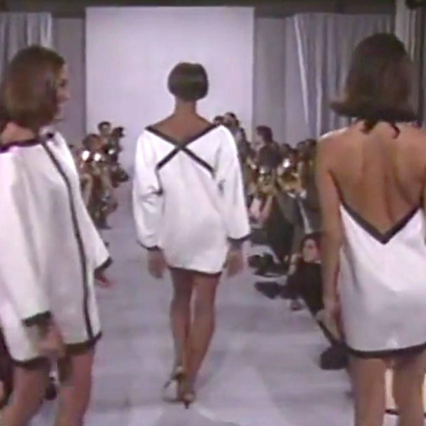 Back of Isaac Mizrahi dress on runway 1990