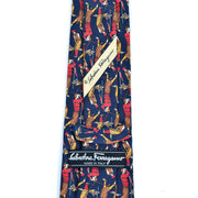 Vintage silk Ferragamo golfer tie for men