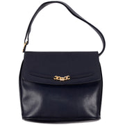 Ferragamo vintage blue leather handbag