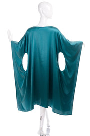 Sartoria dei Dogi Teal Caftan with Circle Cutouts