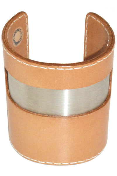 Scott Wilson London vintage leather bracelet cuff - Dressing Vintage
