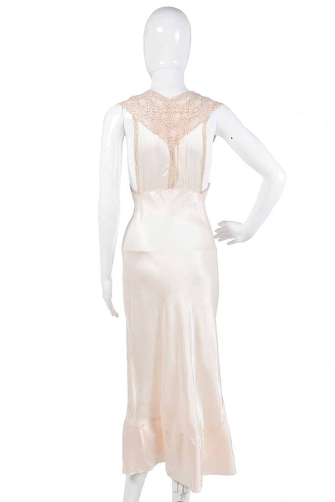 1940's silk and lace nightgown
