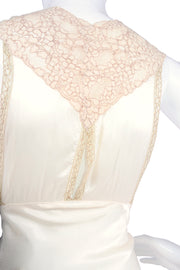 Silk vintage nightgown with keyhole lace