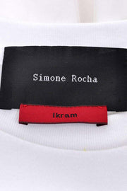 Simone Rocha White Cotton T Shirt Dress W Ruffles & Tulle Ikram Chicago