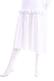 Simone Rocha White Cotton T Shirt Dress W Ruffles & Tulle Layer