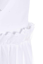 Simone Rocha White Cotton T Shirt Dress W Paper Bag Ruffles & Tulle
