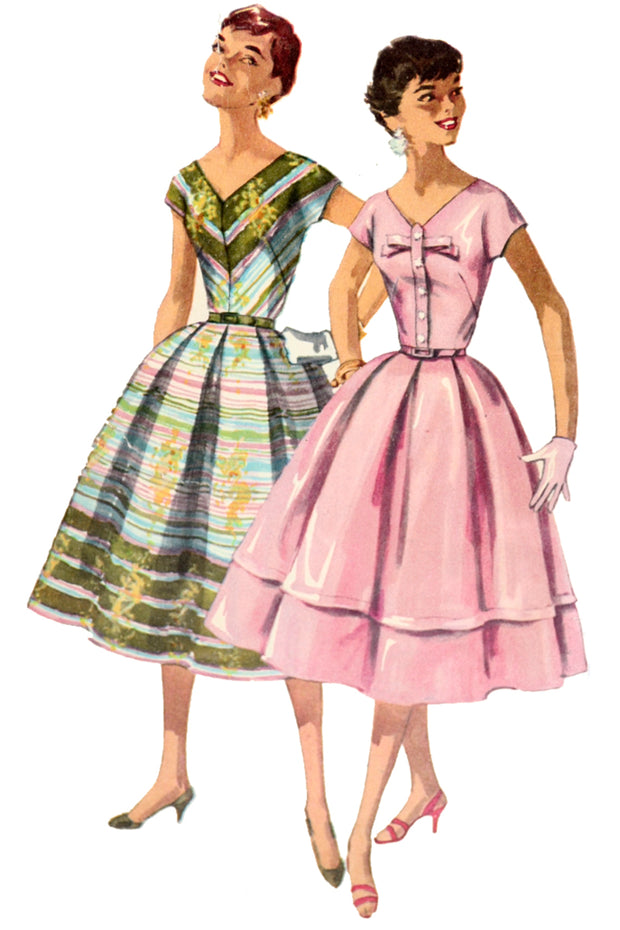 1950s Simplicity 1538 Vintage Dress Sewing Pattern
