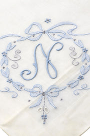 Madeira Something Blue Vintage Bridal Handkerchief