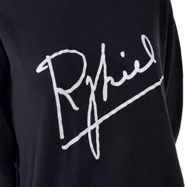 Rykiel Signature Black Cotton Sweatshirt