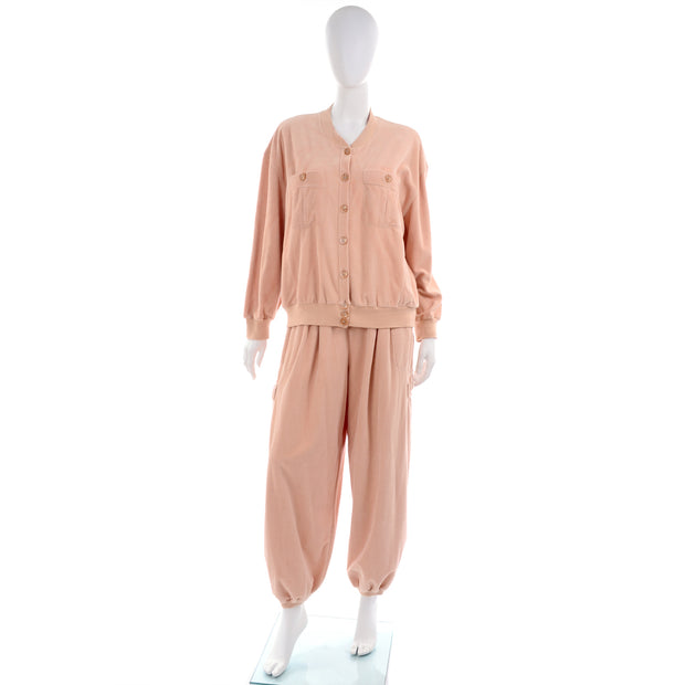 Vintage pink cotton sweatsuit