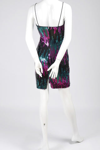 1980s vintage dress sequins Joann Simon Jump