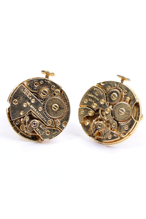 Gotham Watch Co Vintage Steampunk Gear Cufflinks