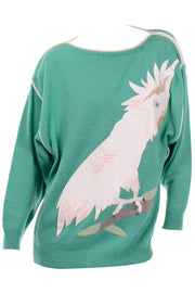 vintage Szato Japan sweater bird Cockatiel