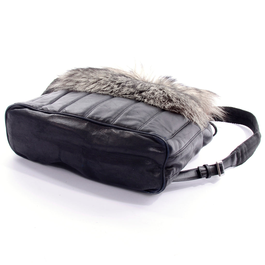 Tanner Krolle Luxurious leather backpack with fur