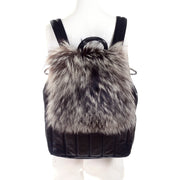 Tanner Krolle fur and black leather large backpack