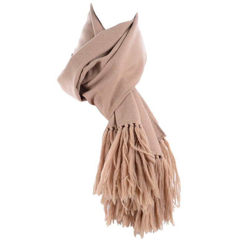 Vintage wool scarf with long tassels