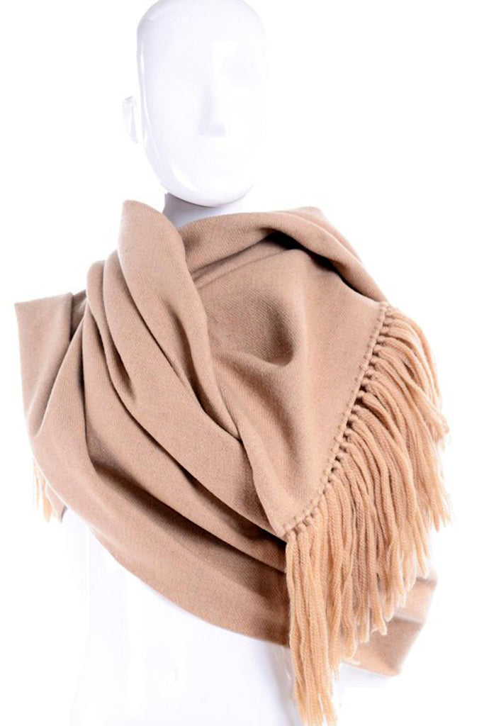 Camel wool extra large blanket scarf