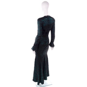 Green & Black Vintage Thierry Mugler Evening Gown