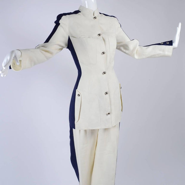 1980's Thierry Mugler suit with snap front