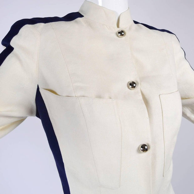 Thierry Mugler 1980's Military jacket in linen