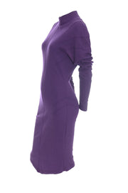 Thierry Mugler Vintage Dress Purple Act IV 1980s - Dressing Vintage