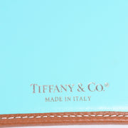 Tiffany & Co Pebble Brown Leather Wallet in Original Blue Box w/ Dustbag