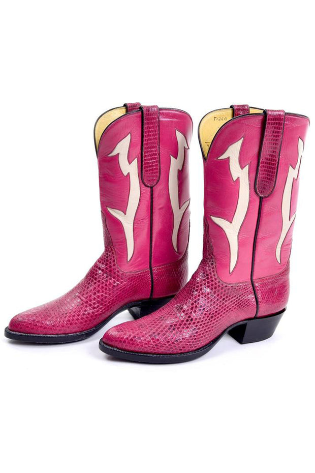 Vintage Pink Cowboy Boots