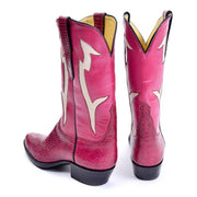 Tom Taylor pink leather cowboy boots from Santa Fe
