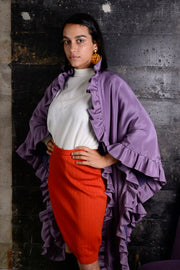 Vintage purple cape jacket