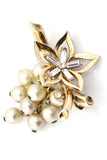 Trifari Crown Vintage Brooch Pearls