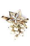 Trifari Crown Vintage Brooch Rhinestones