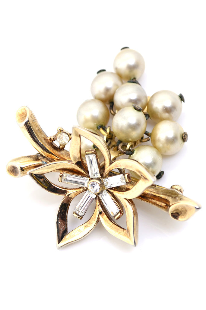 Trifari Crown Vintage Brooch Alfred Philippe