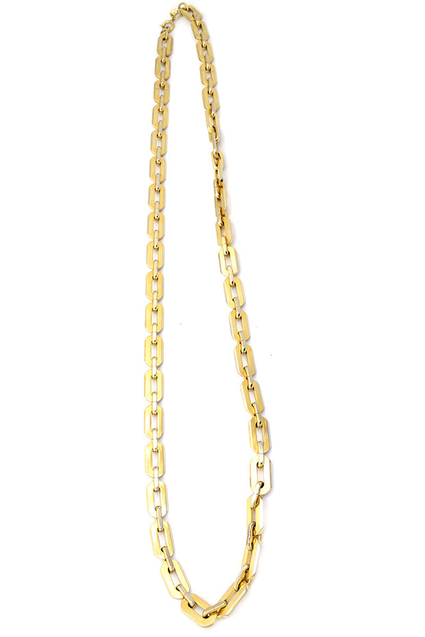 Heavy Trifari Vintage Gold Link Chain Necklace