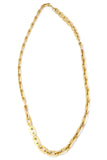 Long Trifari Vintage Gold Link Chain Necklace