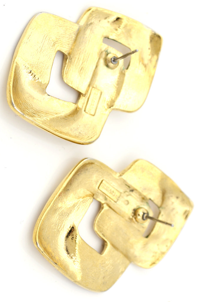 Vintage Trifari gold oversized earrings