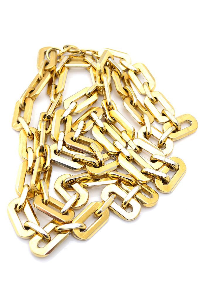 Trifari Vintage Gold Link Chain Necklace