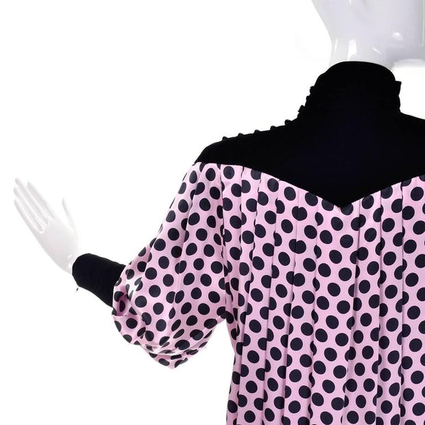 Ungaro extra large polka dot silk tent dress