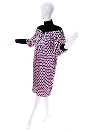 Ungaro 1980's vintage silk and velvet dress