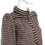 Valentino Attributed Brown & Cream Patterned Vintage Wool Sweater