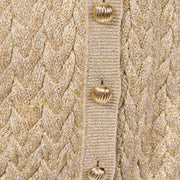 Holiday Vintage Valentino Gold Sparkle Cardigan Sweater
