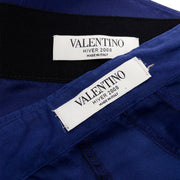 Hiver 2008 Valentino deep blue silk blouse and skirt Labels