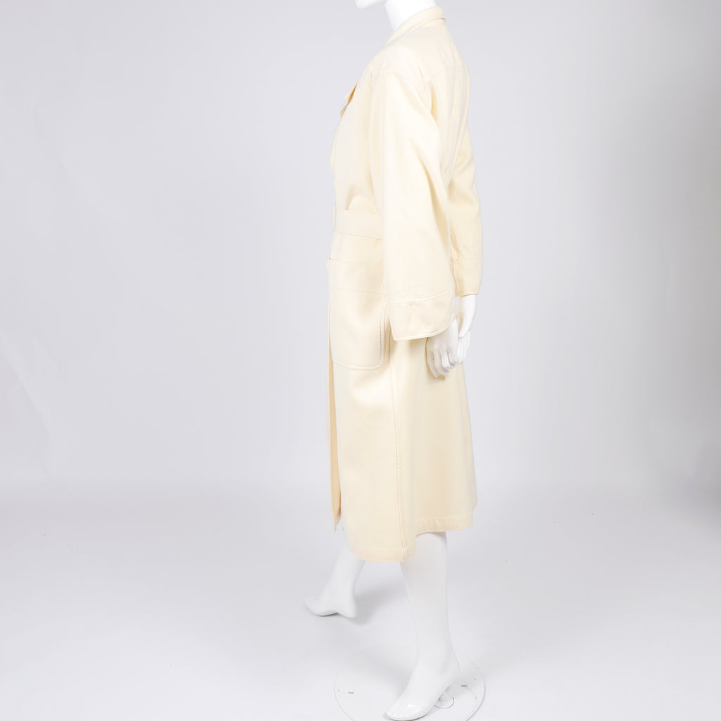 Vintage Valentino Boutique Ivory Wool Coat