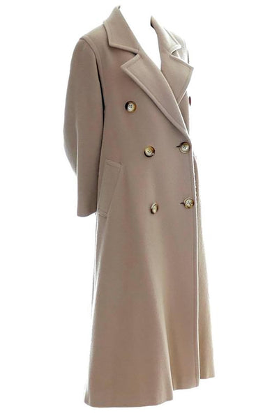 1980s Vintage Valentino Mohair Wool Classic Coat Size 38 US 4 Italy - Dressing Vintage