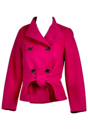 Valentino L'Amour Double Breasted Jacket Raspberry Red Size 4