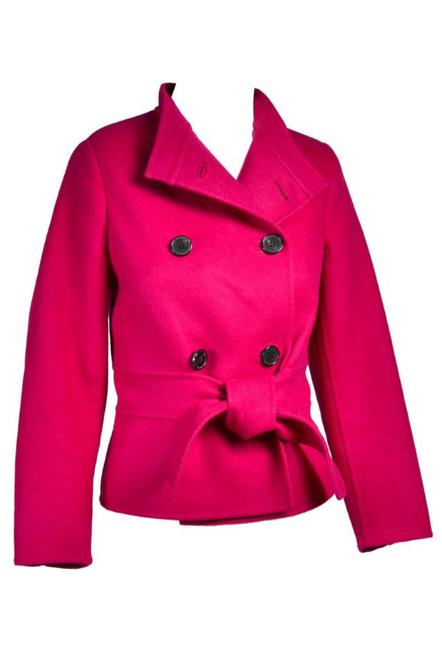 Valentino L'Amour Red Raspberry Wool Angora Jacket Size 4